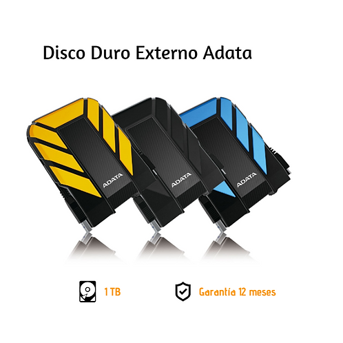 Disco Duro Externo 1Tb Antigolpes/Sumergible