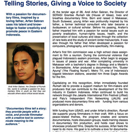 Telling Stories, Giving a Voice Society