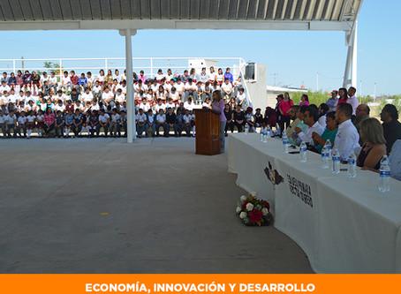 Entrega Gobierno del Estado obra por más de 1 millón de pesos a escuela primaria de Meoqui