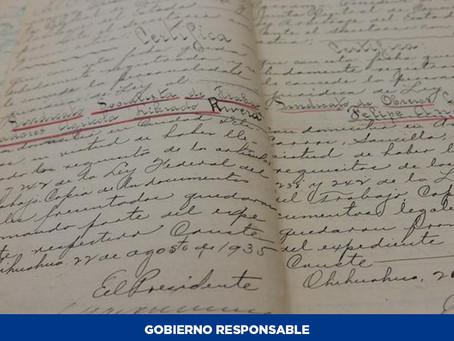 Conservan en la Junta de Conciliación y Arbitraje expedientes de registros sindicales desde 1927