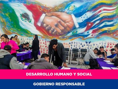 Vinculan a 59 migrantes en jornada de empleo y servicios en Ciudad Juárez