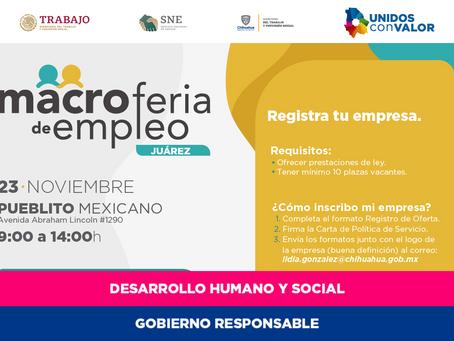 Convocan a empresas a participar en la Macro Feria de Empleo 2019