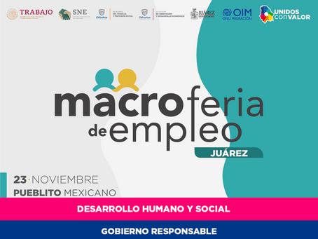 Ofertarán 400 vacantes en la Macro Feria de Empleo en Ciudad Juárez