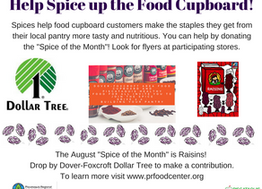 August Spice Drive is Here!