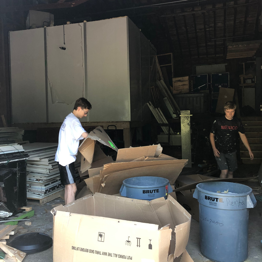 clean up work