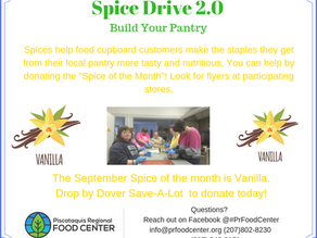 "September ""Spice of the Month"" for the Spice Drive."