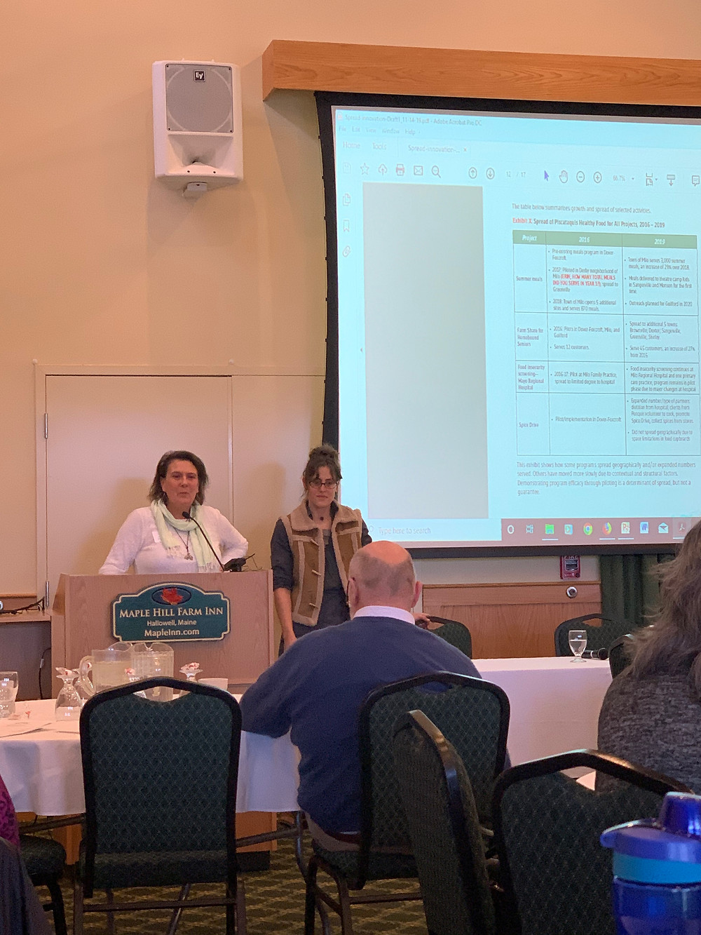Here is a photo of Erin & Merrilee presenting at the MeHAF conference!