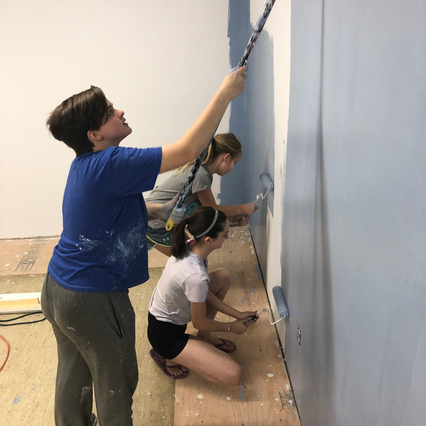blue room painting