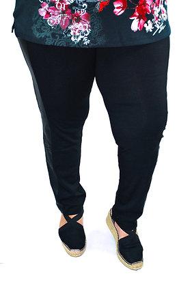 Pantalon Bandes Simili