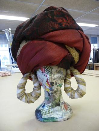 Turban adapté à un tour de tête du 55 au 61