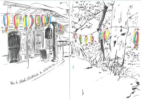 En mai, toute la Corée s'illumine de milliers de lanternes colorées pour célébrer la naissance de Bouddha, Gyeongju, Corée du Sud,