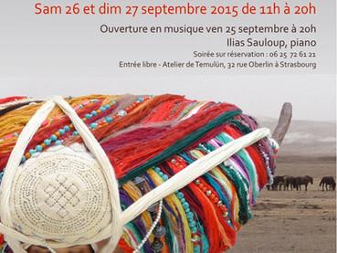 Exposition-vente d'automne à l'atelier, ouverture en musique avec le pianiste Ilias Sauloup