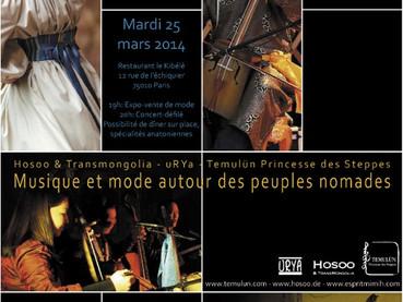 """Défilés concerts avec """"Hosoo & Transmongolia"""" et """"uRYa"""""""