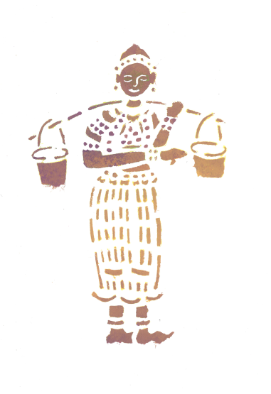 dessin pochoir luang prabang laos