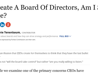 If I Create A Board Of Directors, Am I Still In Charge?