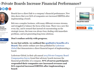 Do Private Boards Increase Financial Performance?
