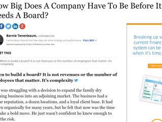 How Big Does A Company Have To Be Before It Needs A Board?