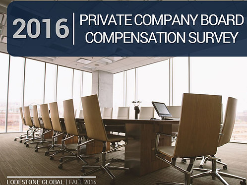 2016 Private Company Board Compensation Survey