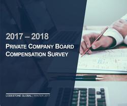 Board Compensation Survey 2017-2018