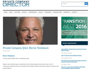Private Company Q&A with Private Company Director Magazine