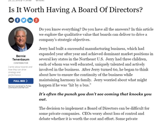 Is It Worth Having A Board Of Directors?