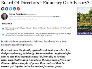 Board of Directors - Fiduciary or Advisory