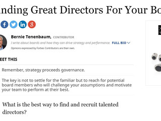Finding Great Directors For Your Board