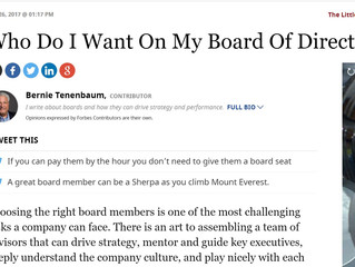 Who Do I Want On My Board Of Directors?