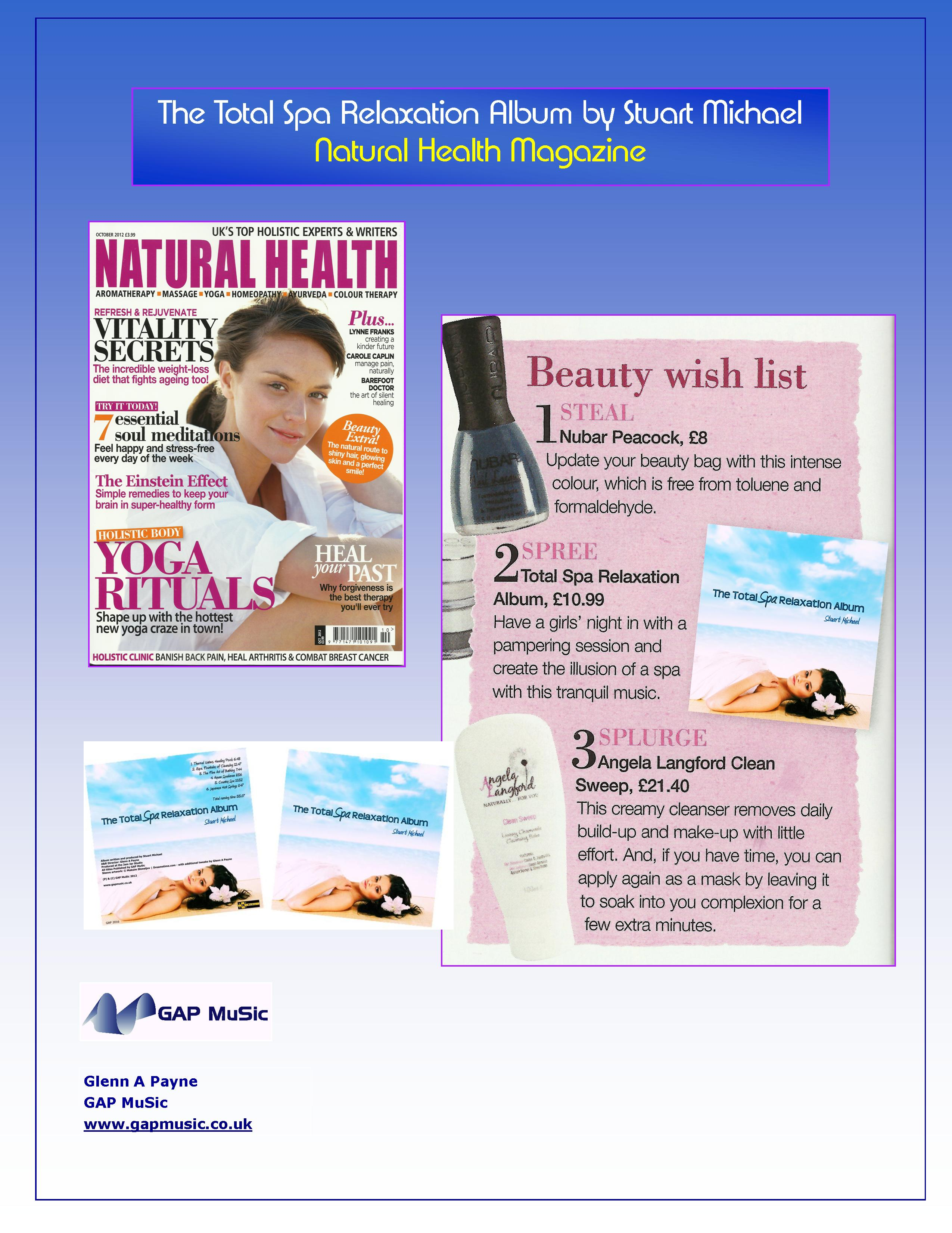 The Total Spa Relaxation Album - Natural Health Magazine
