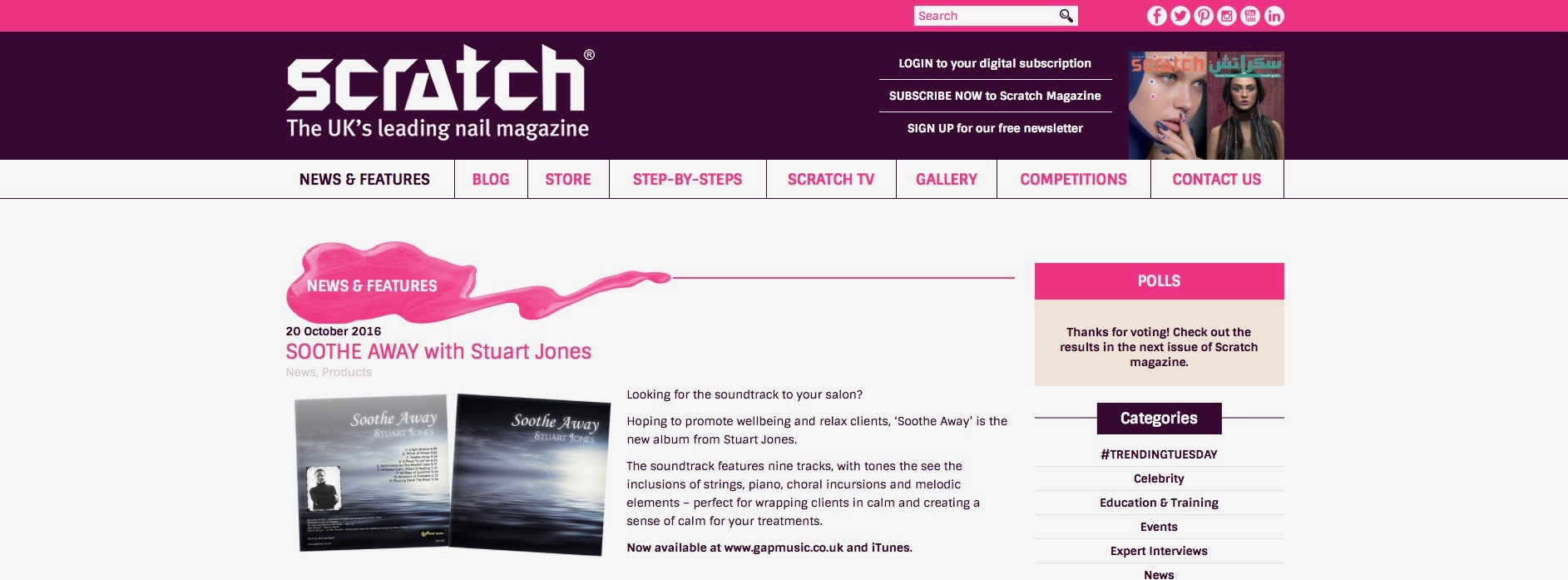 Soothe Away - Scratch Magazine On-line