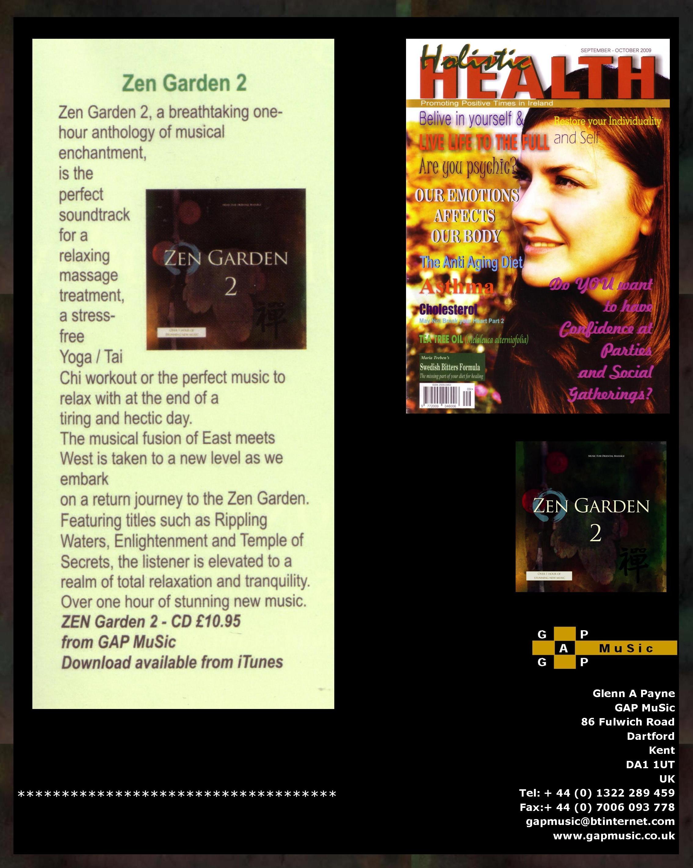 Zen Garden 2 - Holistic Health Magazine