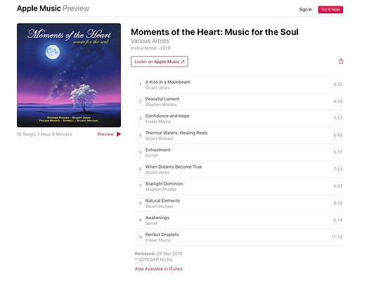 Moments of the heart music for the soul.