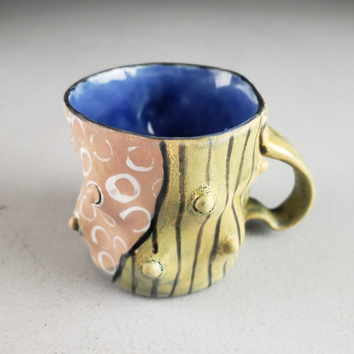 Sara Catapano - Pink/yellow mug with handle (SMC- 21)