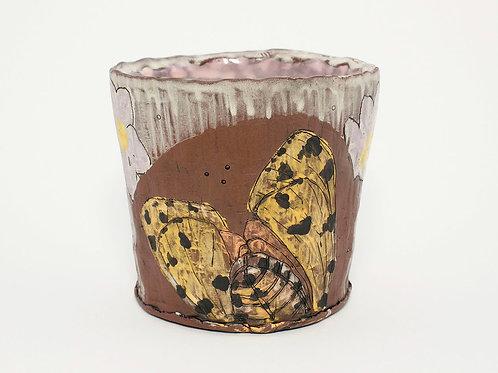 Lane Chapman - Purple Moth Floral Mug  (LEC-8)