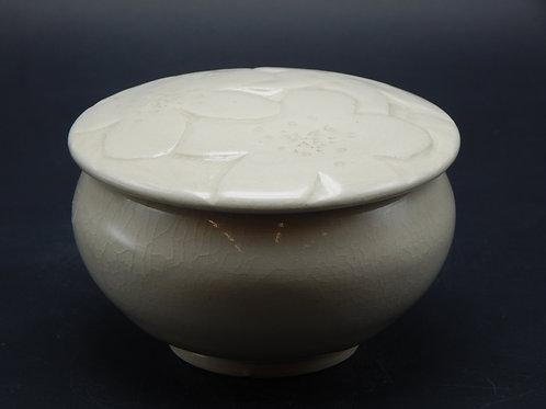 Adelheid West -White on White Cherry Blossom Jar  (AEW-004)