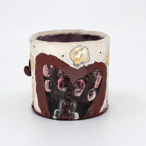 Lane Chapman - Floral Moth Mug  (LEC-1)
