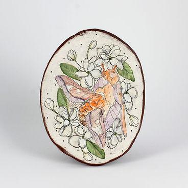 Lane Chapman - Oakworm Moth & Jasmine Flower Wall Hanging