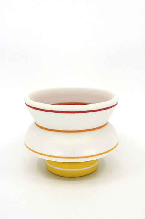 Chris Alveshere - White Cup with Inlay (CA-8)