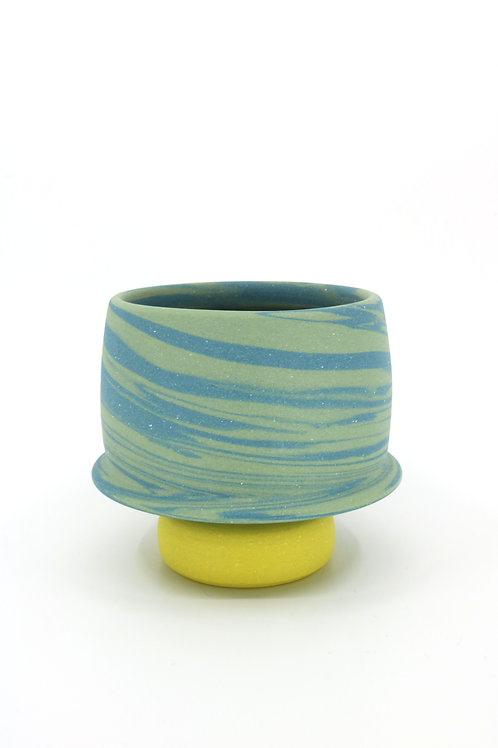 Chris Alveshere - Teal Swirl Cup  (CA-11)
