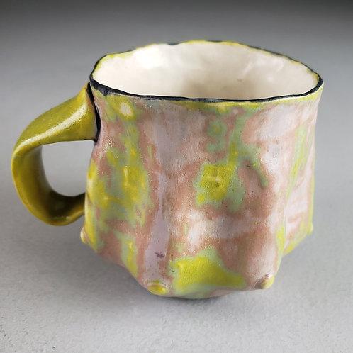 Sara Catapano - Colorful green mug with handle (SMC- 41)