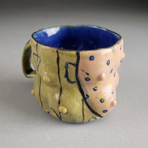 Sara Catapano - Pink/yellow mug with handle (SMC- 20)