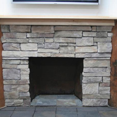 How to Cover a Brick Fireplace With Stone