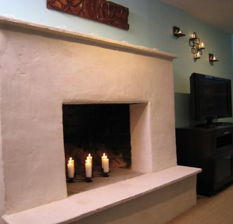 Weekend Projects: Resurface a Fireplace with Stucco