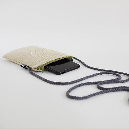 Funda de móvil (paja-crem. verde)