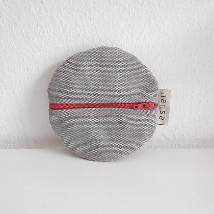Estuche redondo (gris claro_crem 12 cm)