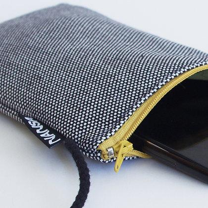 Funda de móvil (blanco y negro-crem. amarillo)