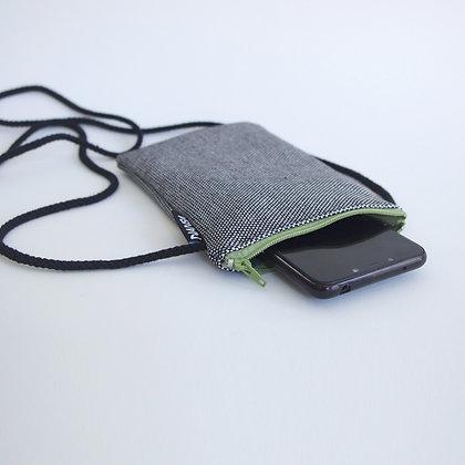 Funda de móvil (blanco y negro-crem. verde)