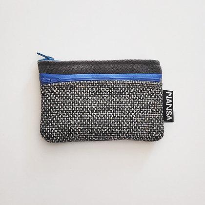 Cartera (jaspeado, gris+azul) (crem 14 cm)