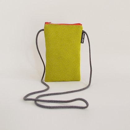 Funda de móvil (verde lima.-crem. naranja)