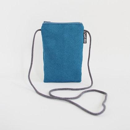 Funda de móvil (azul intenso-crem. gris)
